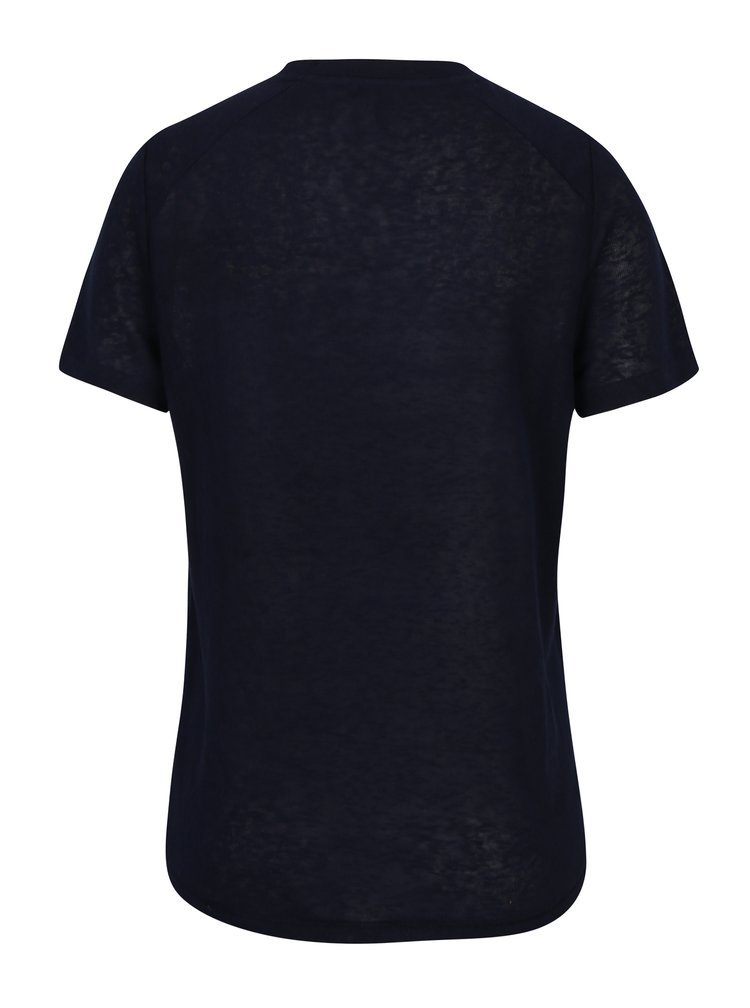 Tricou bleumarin cu aplicatie din paiete si margele decorative-  ONLY Helena