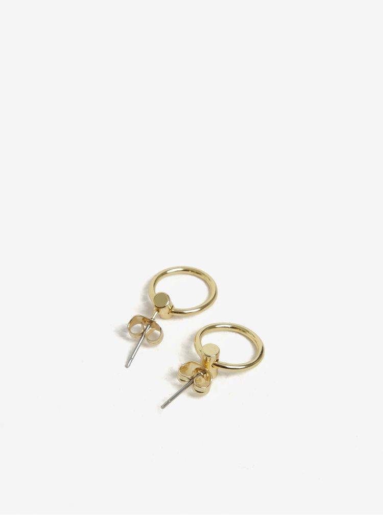 Náušnice s kroužky ve zlaté barvě Pieces Ramona