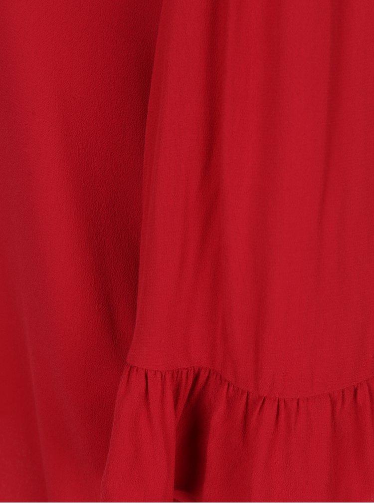 Červená halenka s volány ONLY Marly