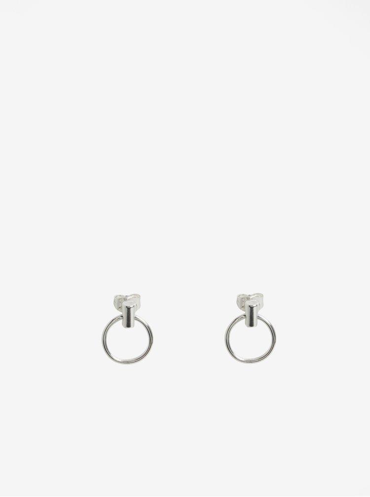 Náušnice s kroužky ve stříbrné barvě Pieces Ramona