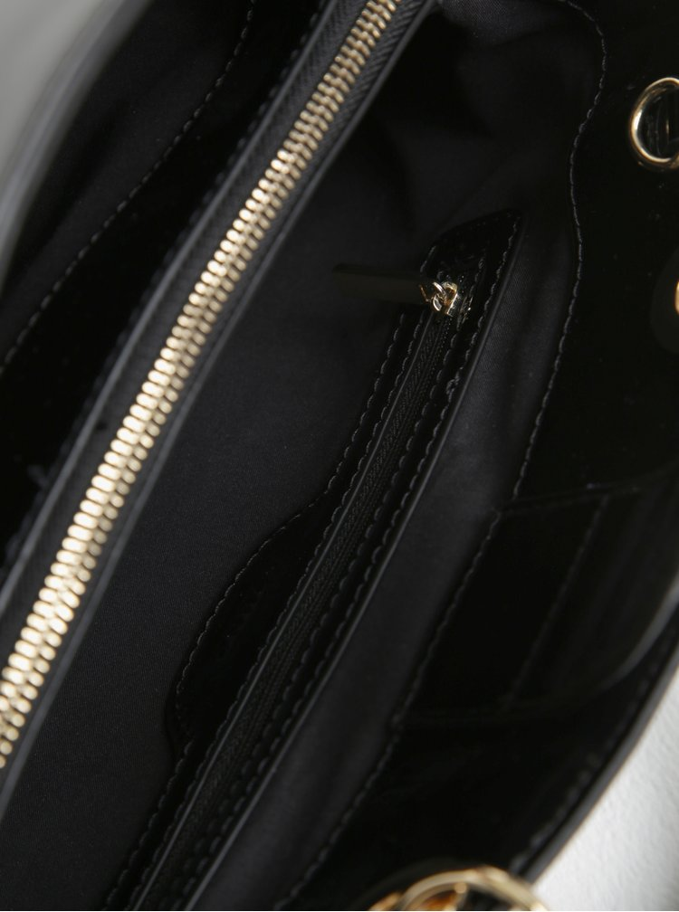 Geanta neagra cu pandantiv si aspect lacuit Juno