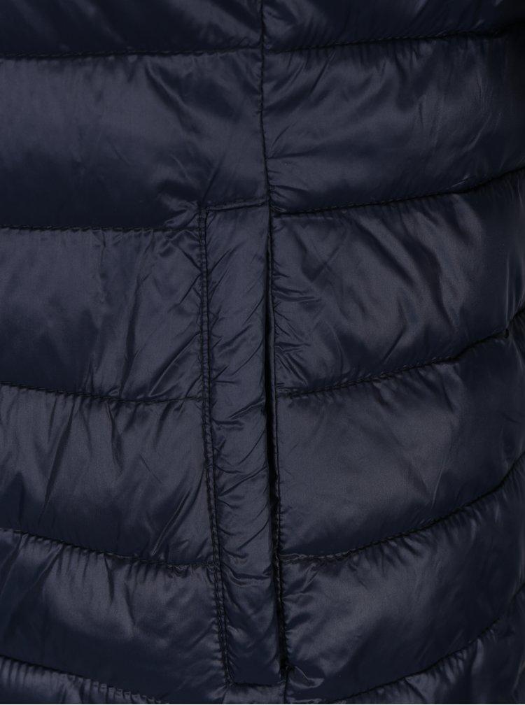 Tmavě modrá prošívaná bunda VERO MODA Soraya
