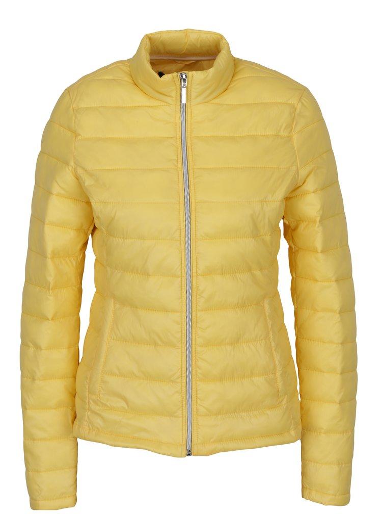 Žlutá prošívaná bunda VERO MODA Soraya
