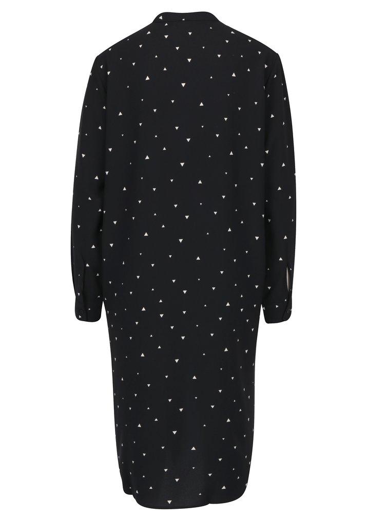 Černé vzorované košilové šaty Jacqueline de Yong Lisa