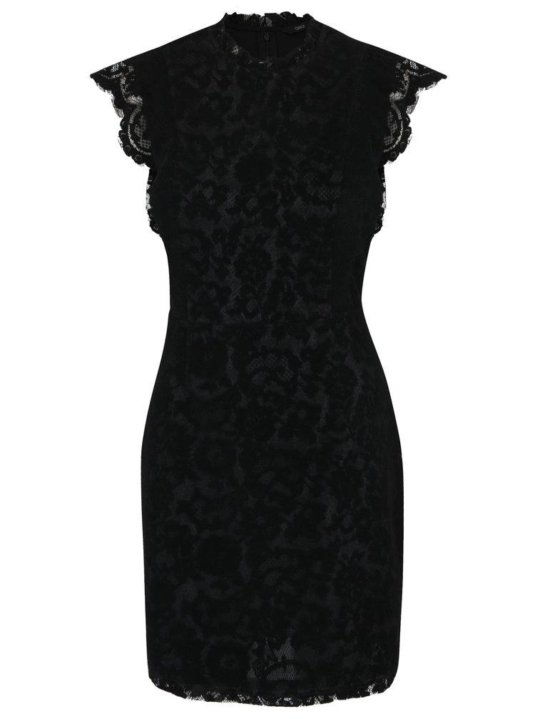 Černé krajkové šaty ONLY Sage