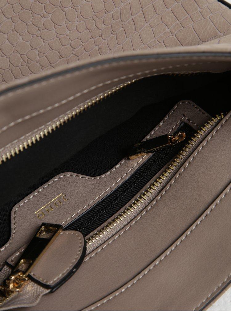 Béžová crossbody kabelka s retiazkou v zlatej farbe Juno