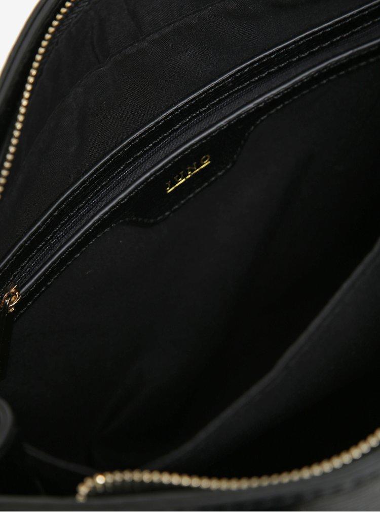 Černá kabelka do ruky s odnímatelným popruhem Juno