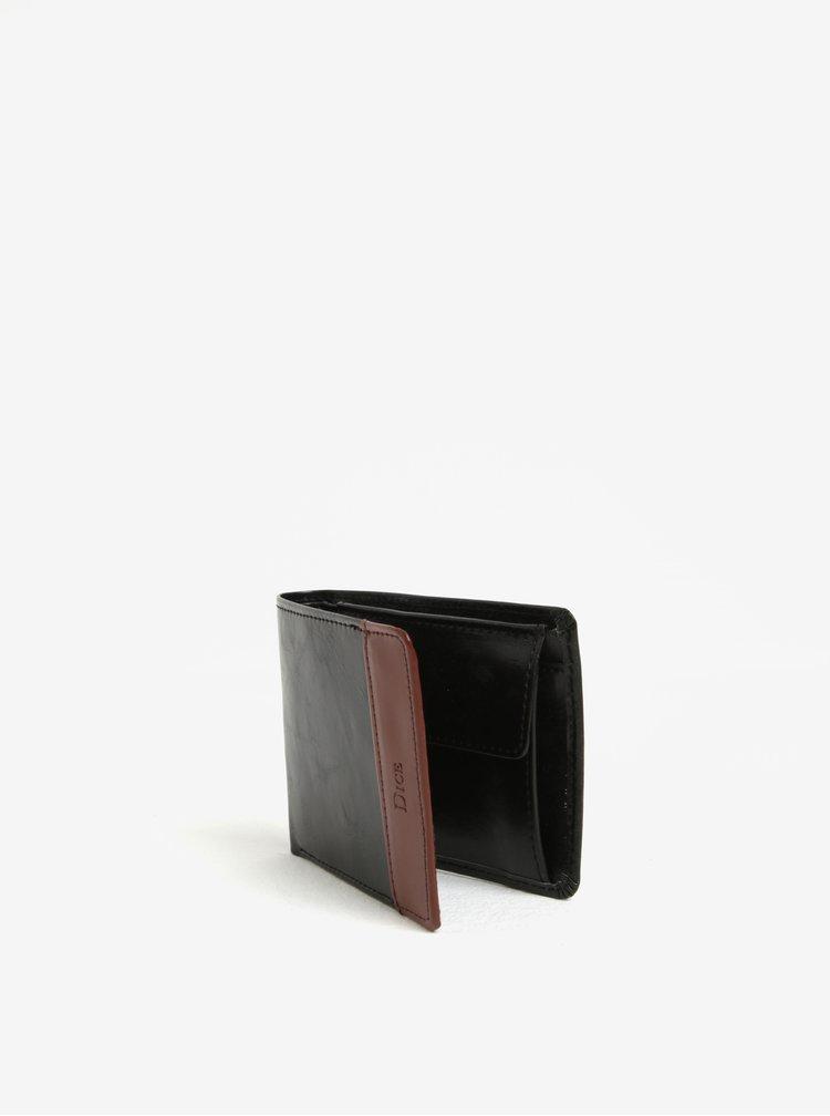 Set de portofel si curea maro din piele in cutie de cadou - Dice