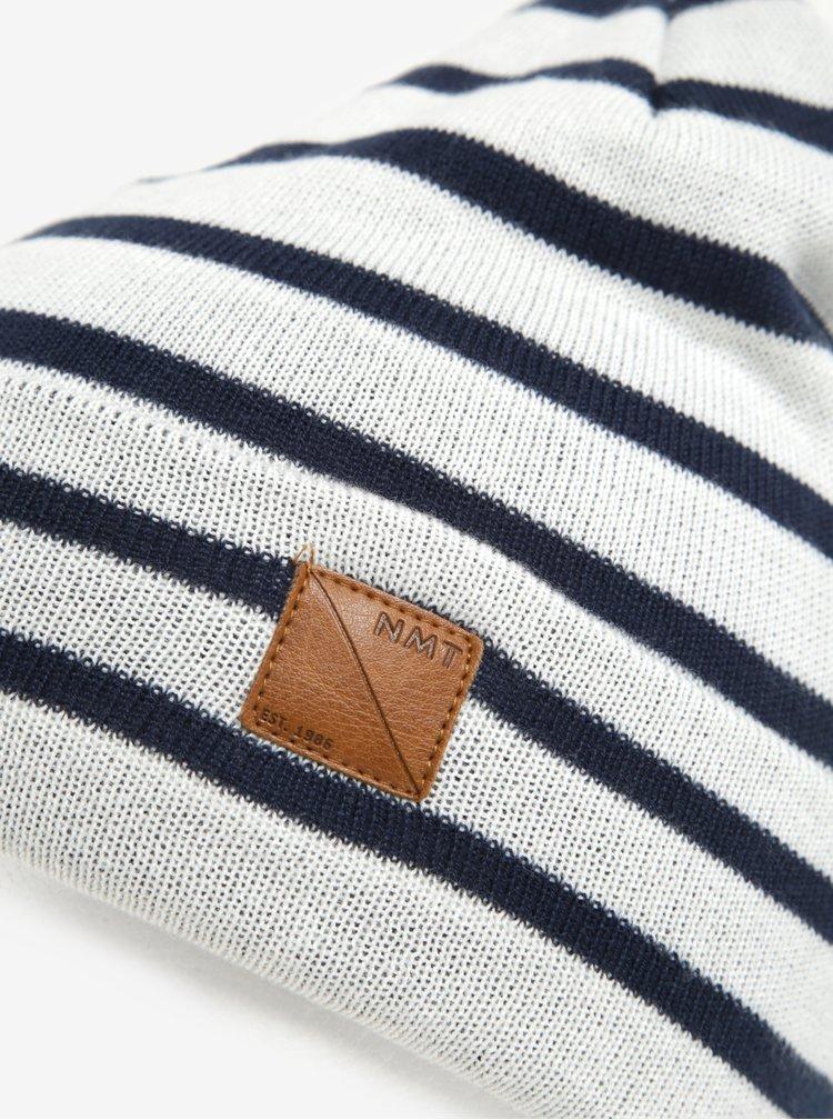 Krémová klučičí vzorovaná čepice name it Mons