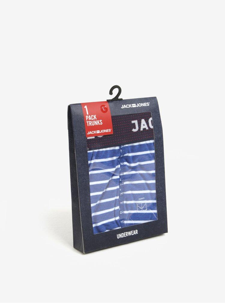 Boxeri albi & bleu cu model in dungi - Jack & Jones Chris