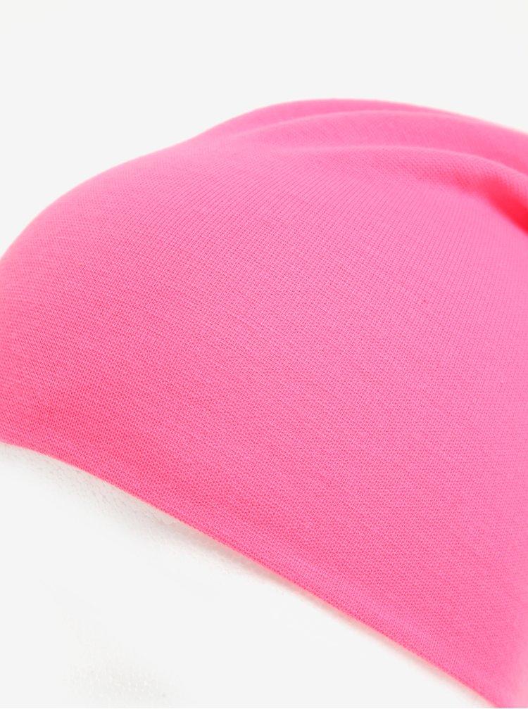 Neonově růžová holčičí čepice name it Meon