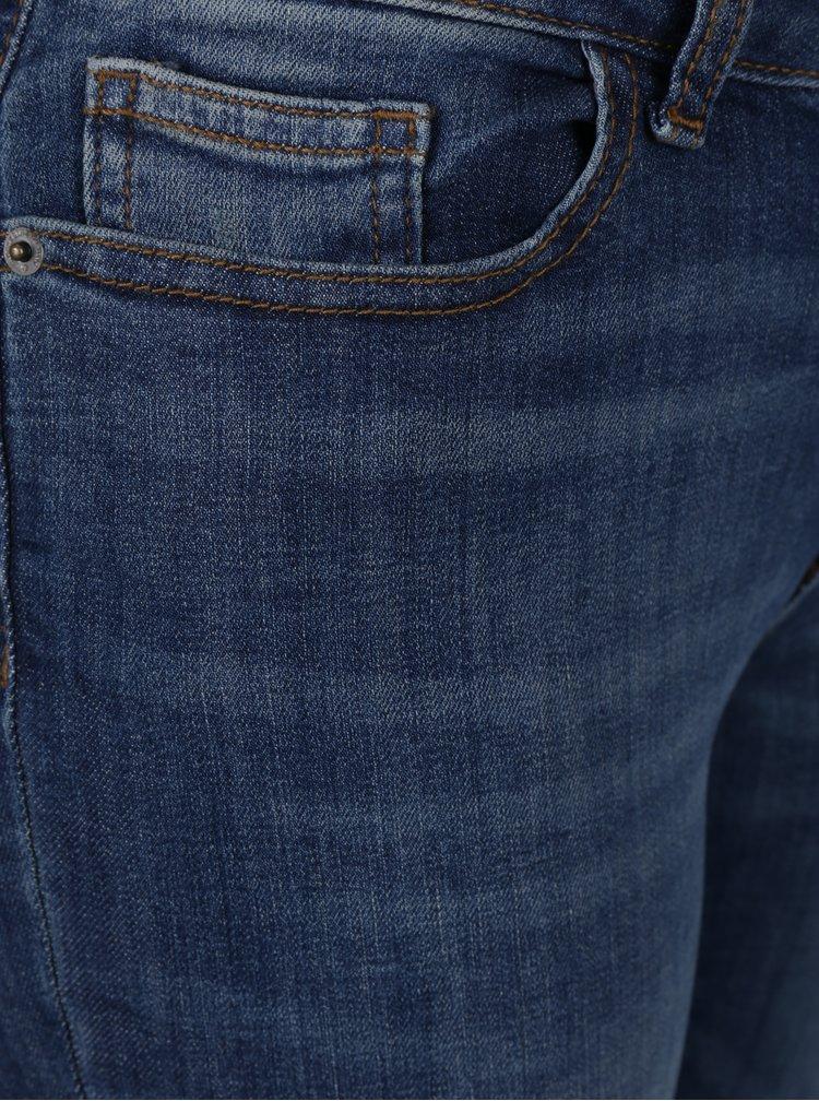 Modré skinny džíny s potrhaným efektem Jacqueline de Yong Florence