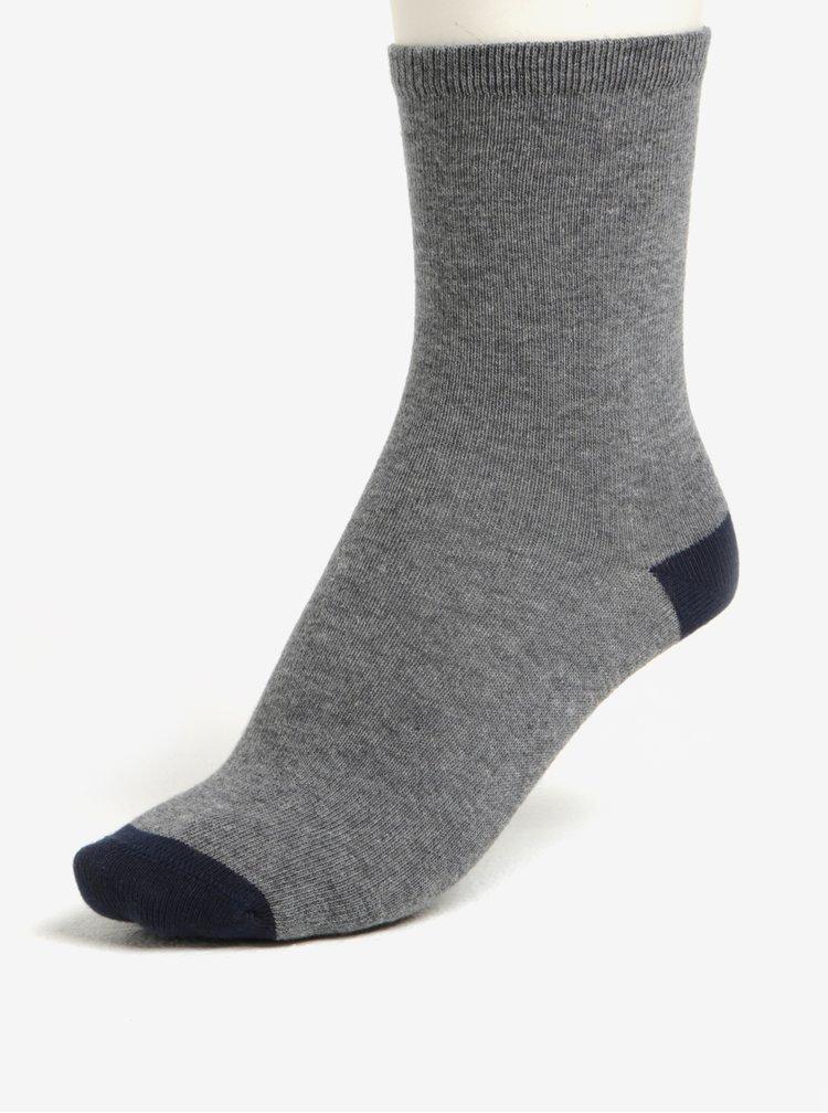 Sada pěti párů klučičích ponožek v modré a šedé barvě name it Vaks
