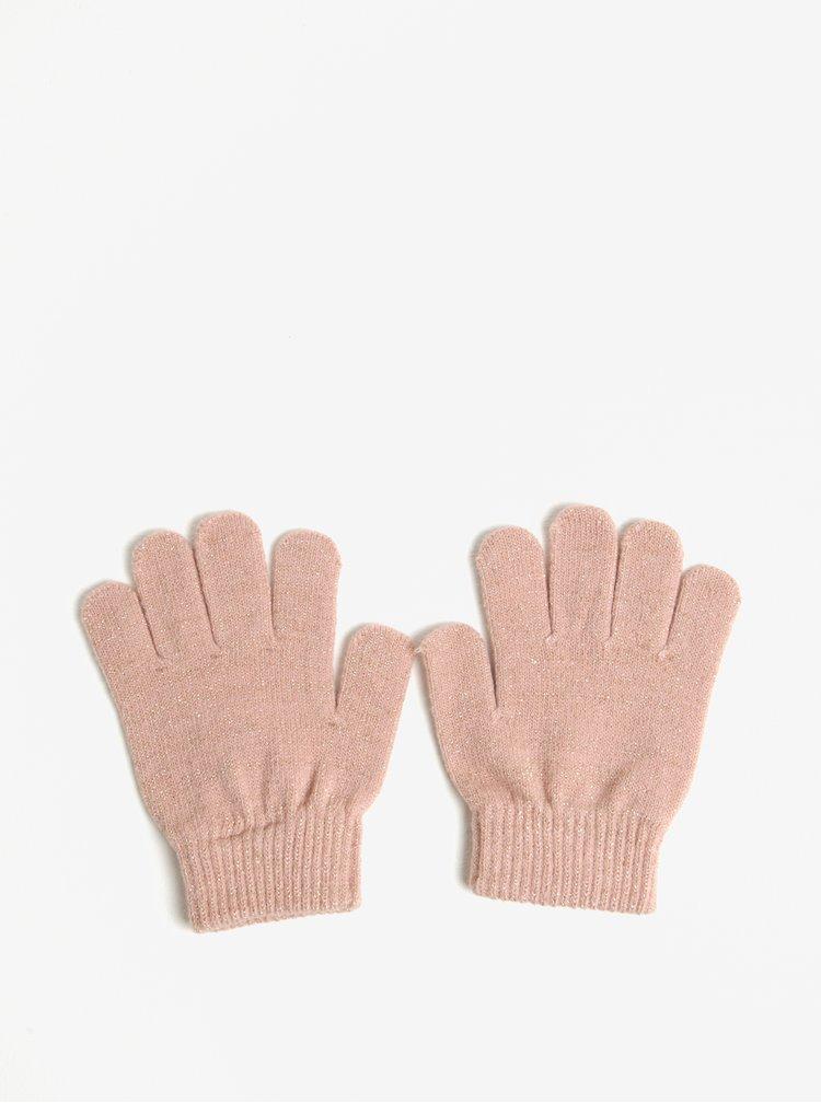 Světle růžové holčičí rukavice s třpytivým efektem name it Magic