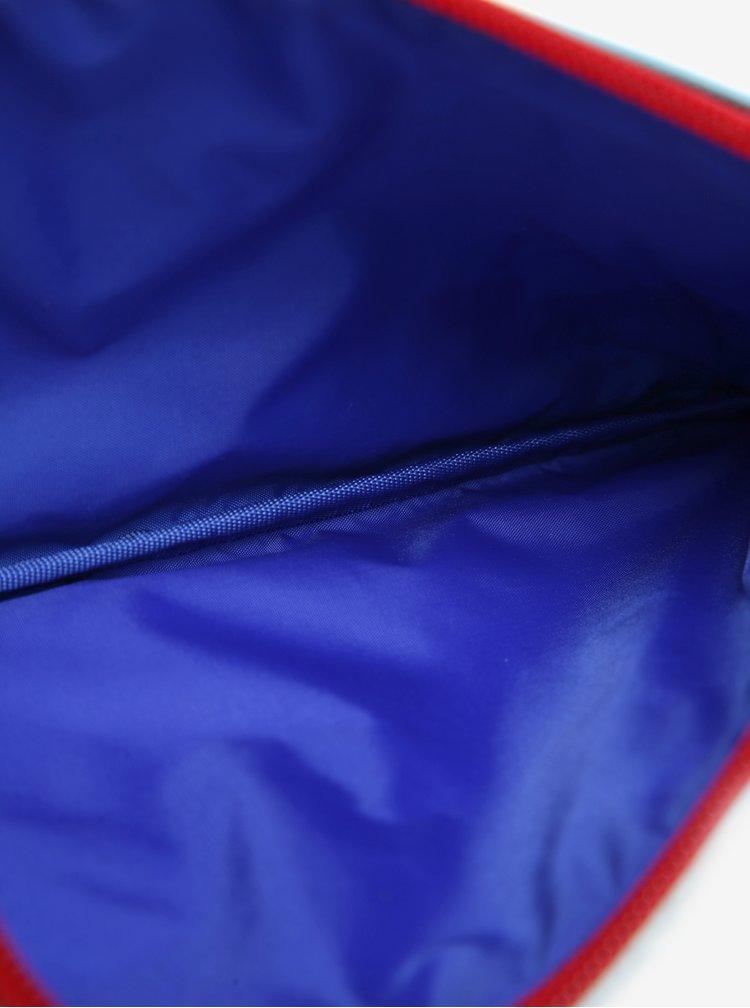 Světle modrý klučičí penál s motivem vagonů Tyrrell Katz Trains