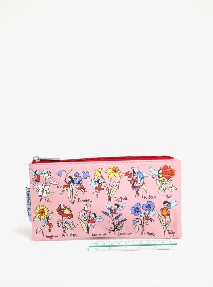 Světle růžový holčičí penál s motivem víl Tyrrell Katz Flower Fairy