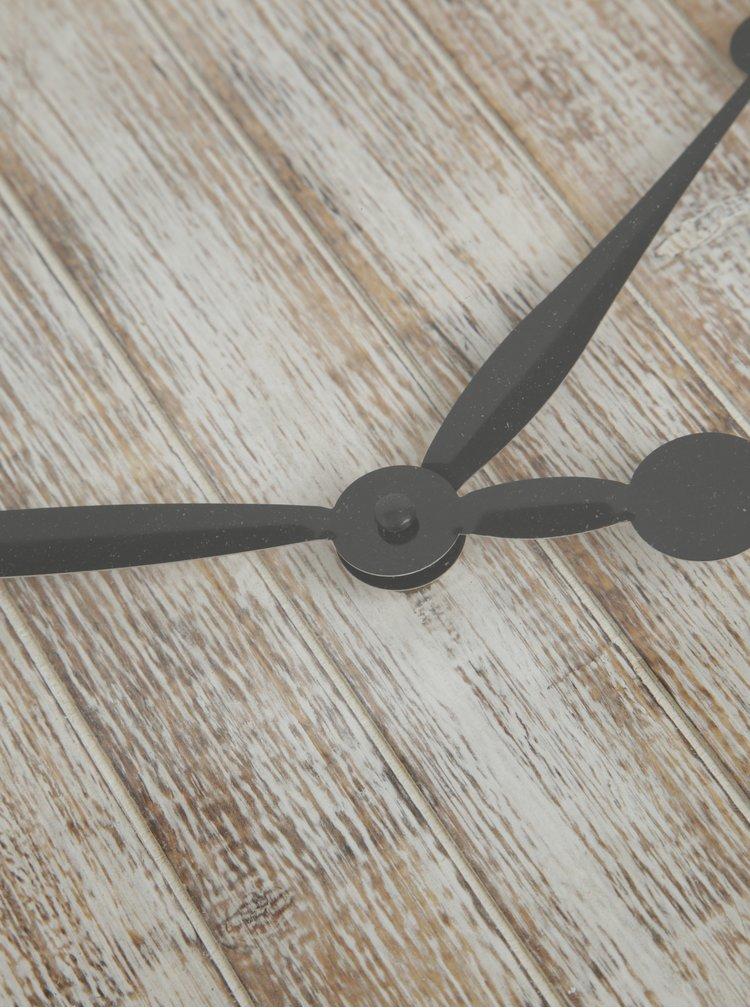 Ceas de perete alb & crem - Dakls