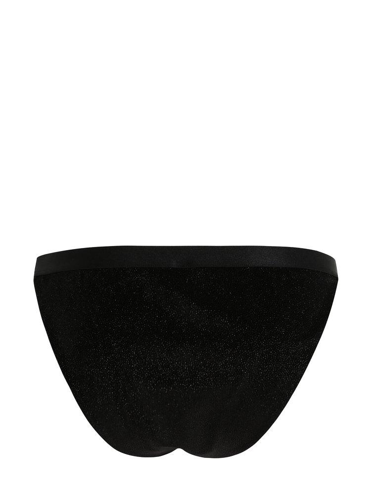 Černé třpytivé kalhotky Y.A.S Parkle