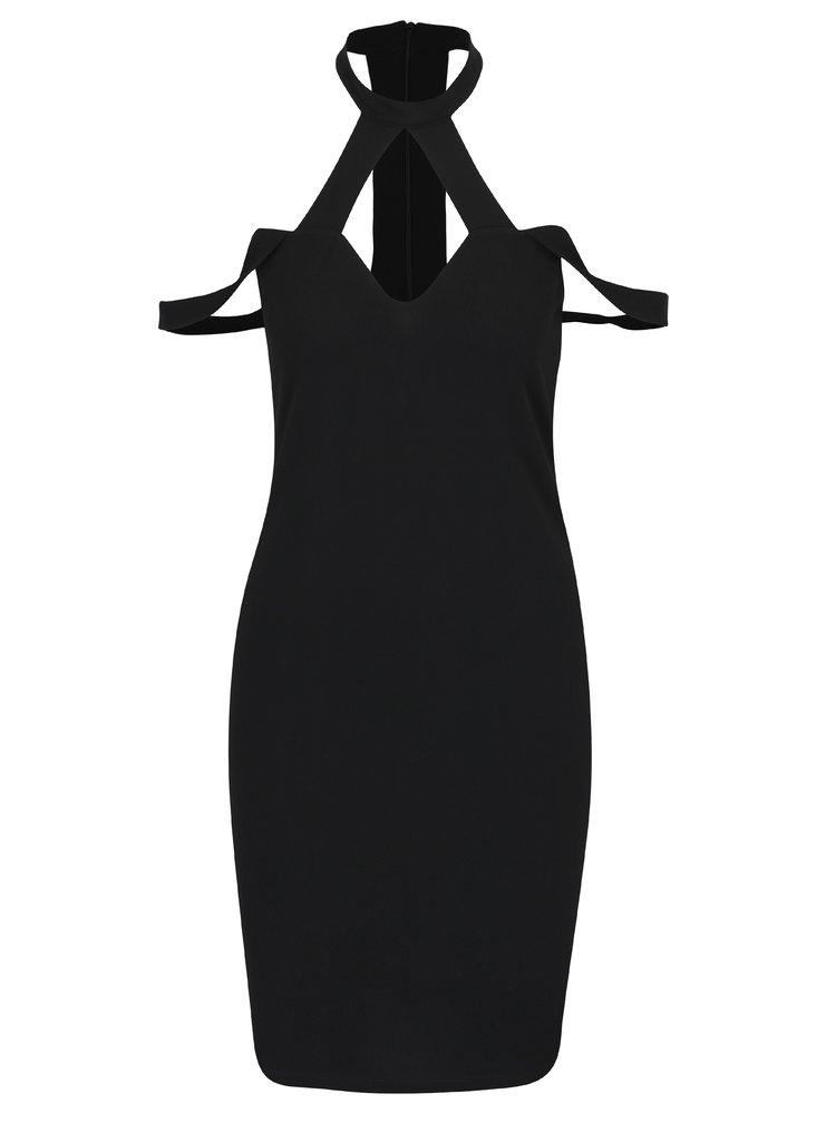 Černé šaty s chokerem VERO MODA Anjou