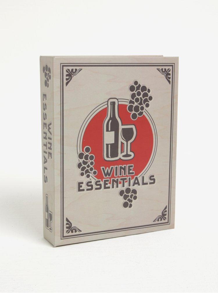 Set na víno v dárkové krabičce Kikkerland