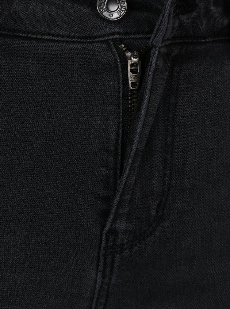Šedé slim fit džíny s aplikací VERO MODA Seven