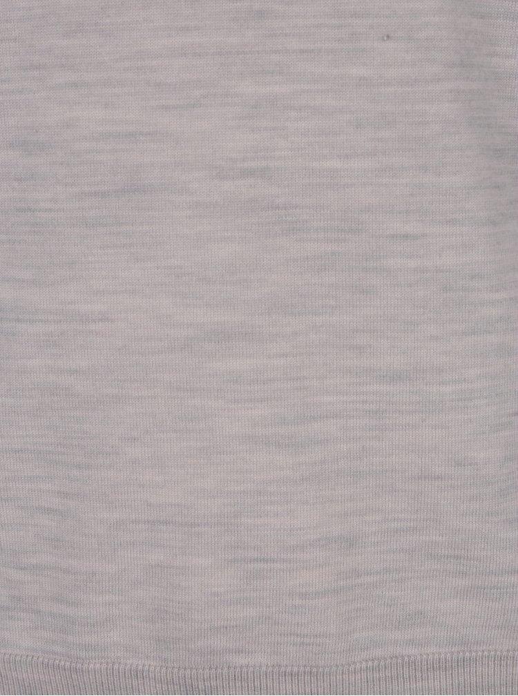 Krémový žíhaný svetr z Merino vlny Jack & Jones Premium Mark