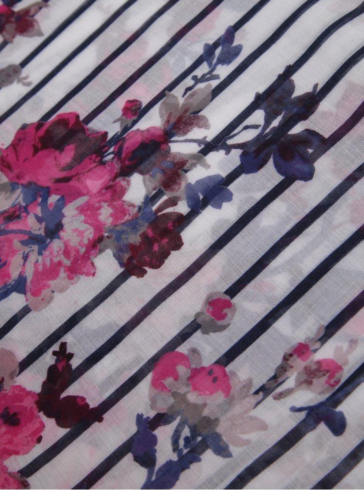 Esarfa multicolora cu print floral Tom Joule Wensley
