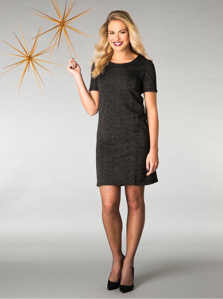 Černé třpytivé šaty Yest