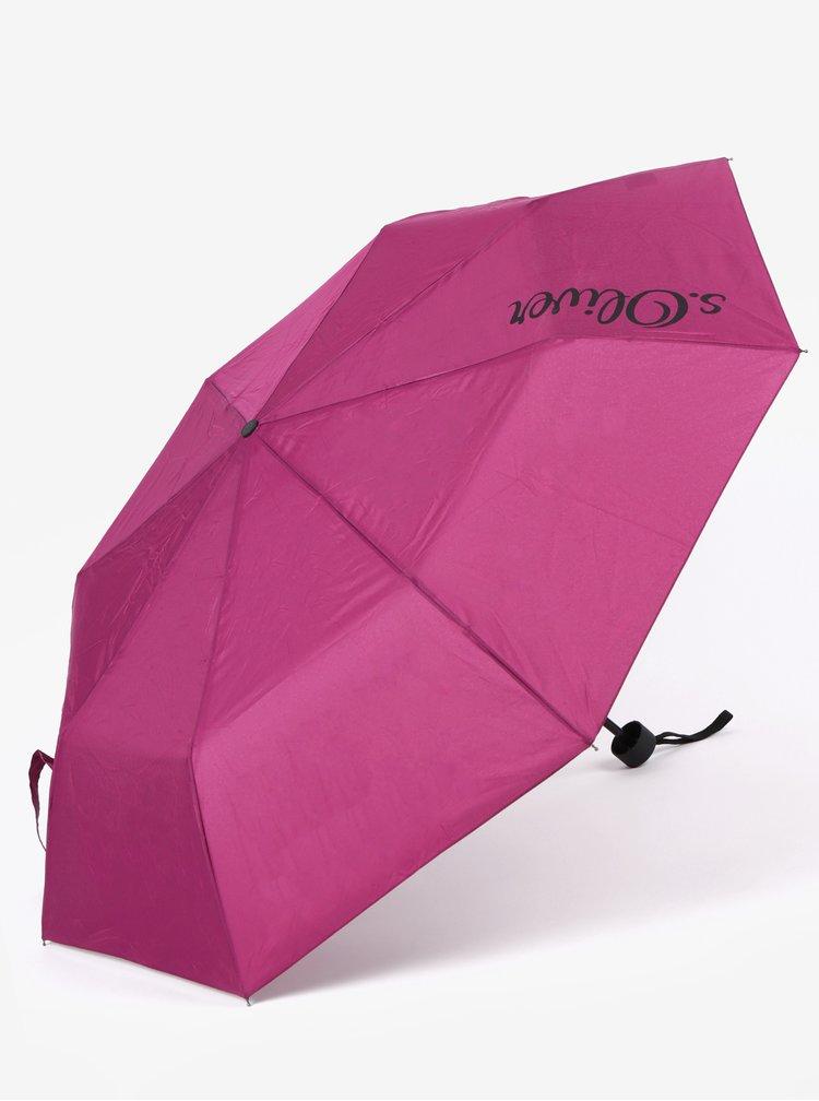 Vínový skládací deštník s.Oliver
