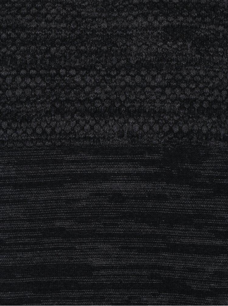 Šedý žíhaný slim fit svetr Blendlim fit svetr Blend