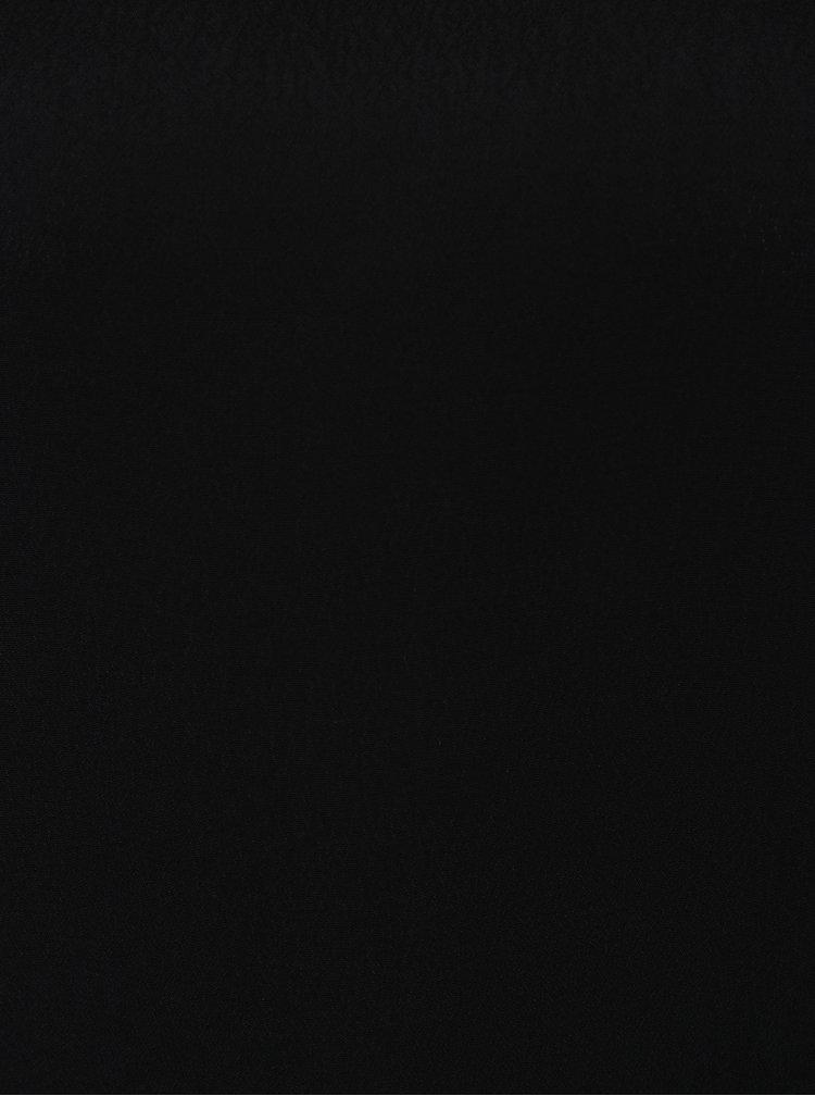 Černá halenka s krajkovými detaily Yest