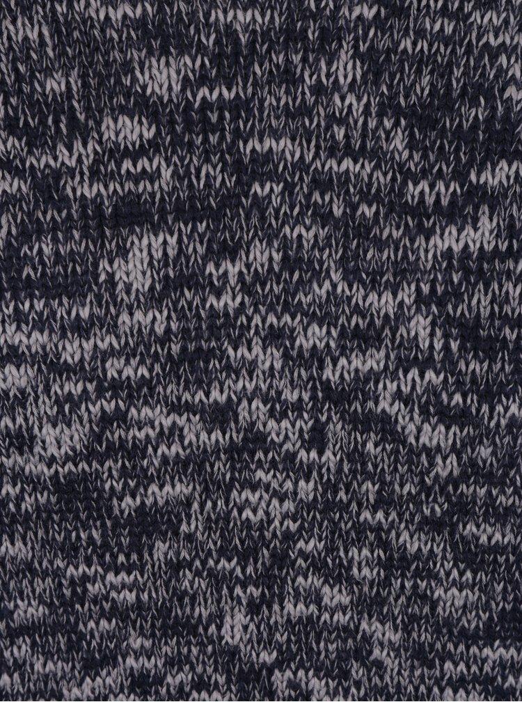 Šedo-modrý žíhaný svetr Selected Homme Bart