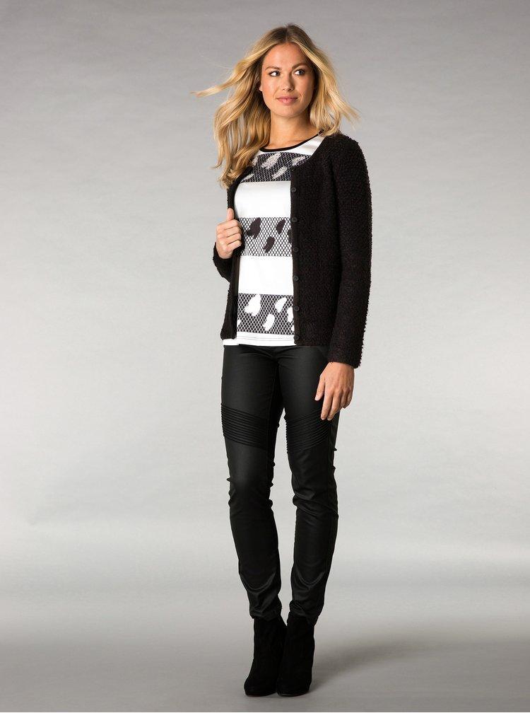 Cardigan tricotat negru - Yest