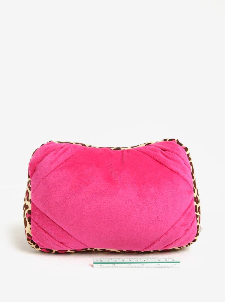 Růžový vzorovaný multifunkční polštář Something Special