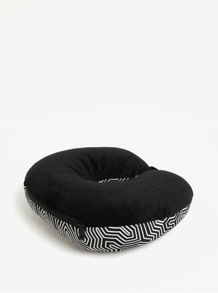 Bílo-černý vzorovaný multifunkční polštář Something Special