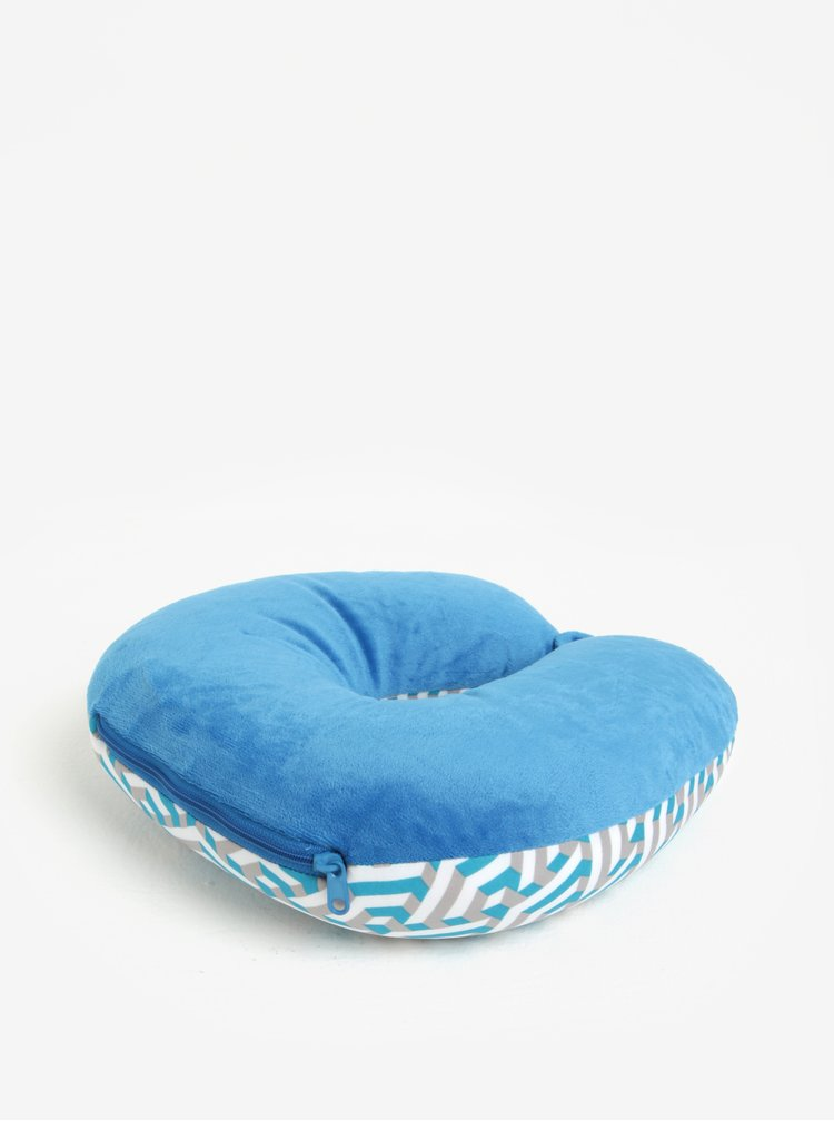 Modrý vzorovaný multifunkční polštář Something Special
