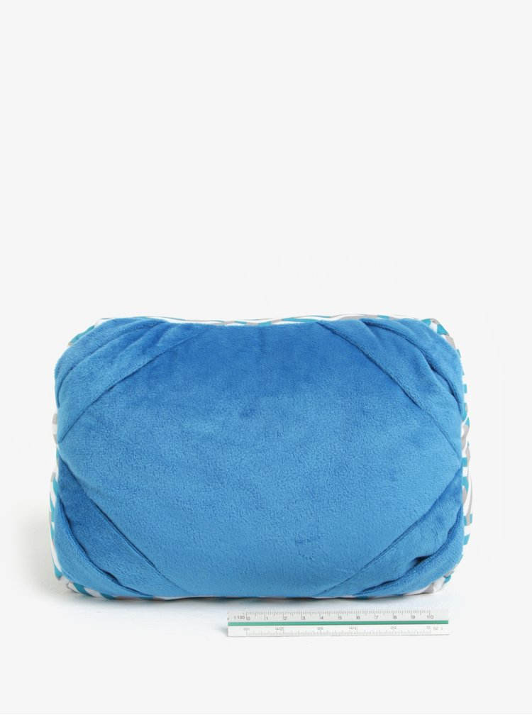 Perna de calatorie bleu & gri convertibila cu print - Something Special