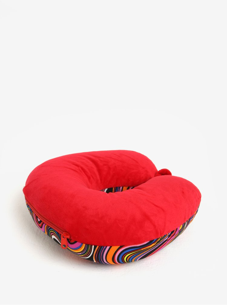 Červený vzorovaný multifunkční polštář Something Special