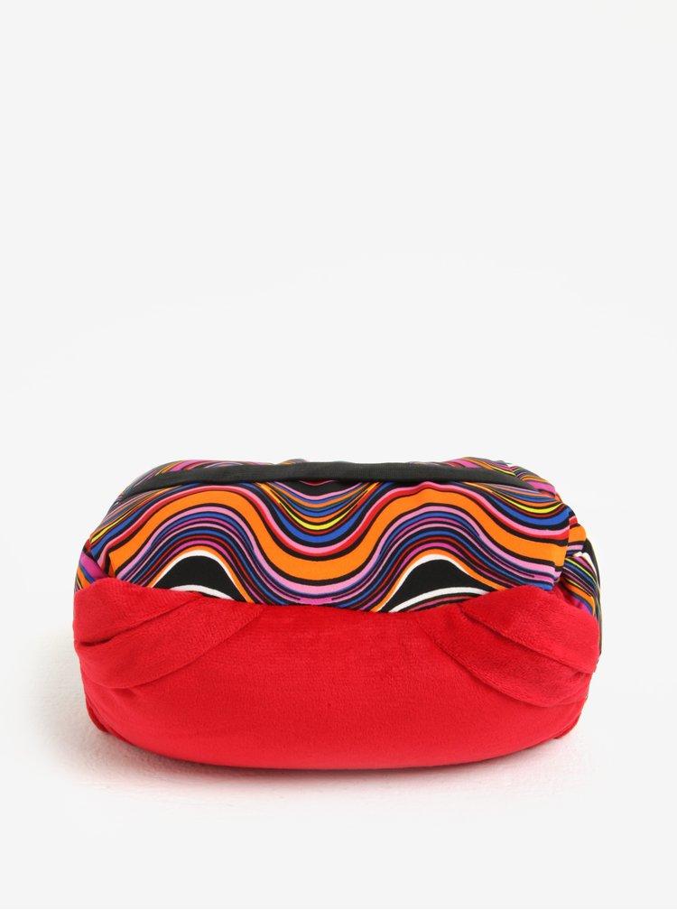 Perna de calatorie multicolora convertibila cu print - Something Special