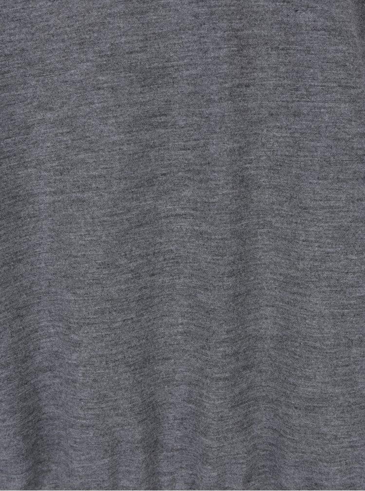 Bluza gri cu guler inalt Gina Laura