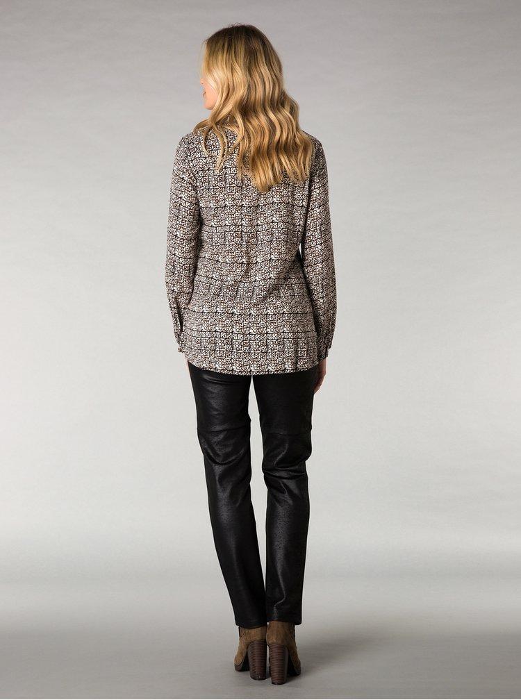 Černé regular fit kalhoty se vzhledem broušené kůže Yest