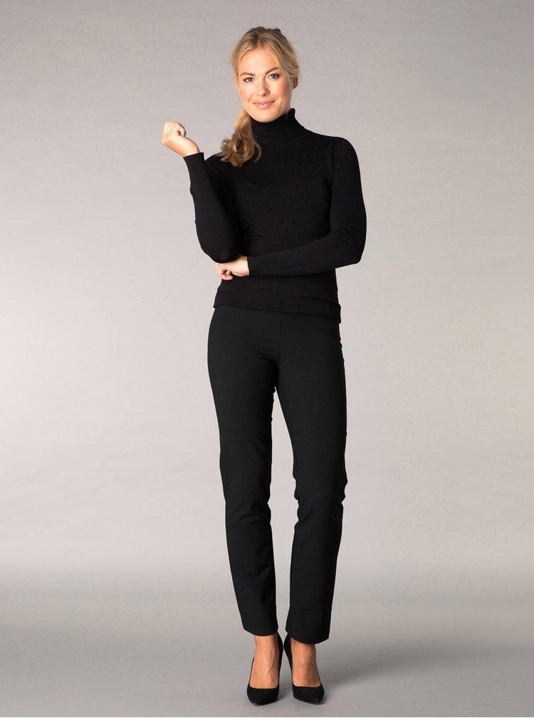 Černé regular fit kalhoty Yest
