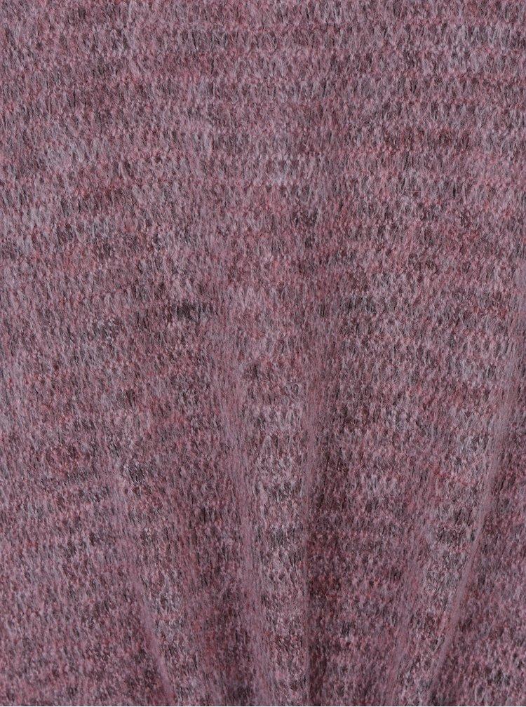Světle fialový žíhaný svetr s všitým tílkem 2v1 Gina Laura