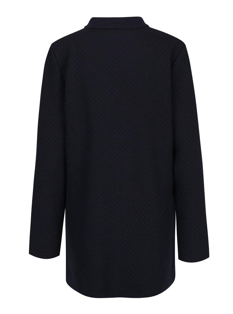 Jacheta neagra lunga cu model delicat  Gina Laura