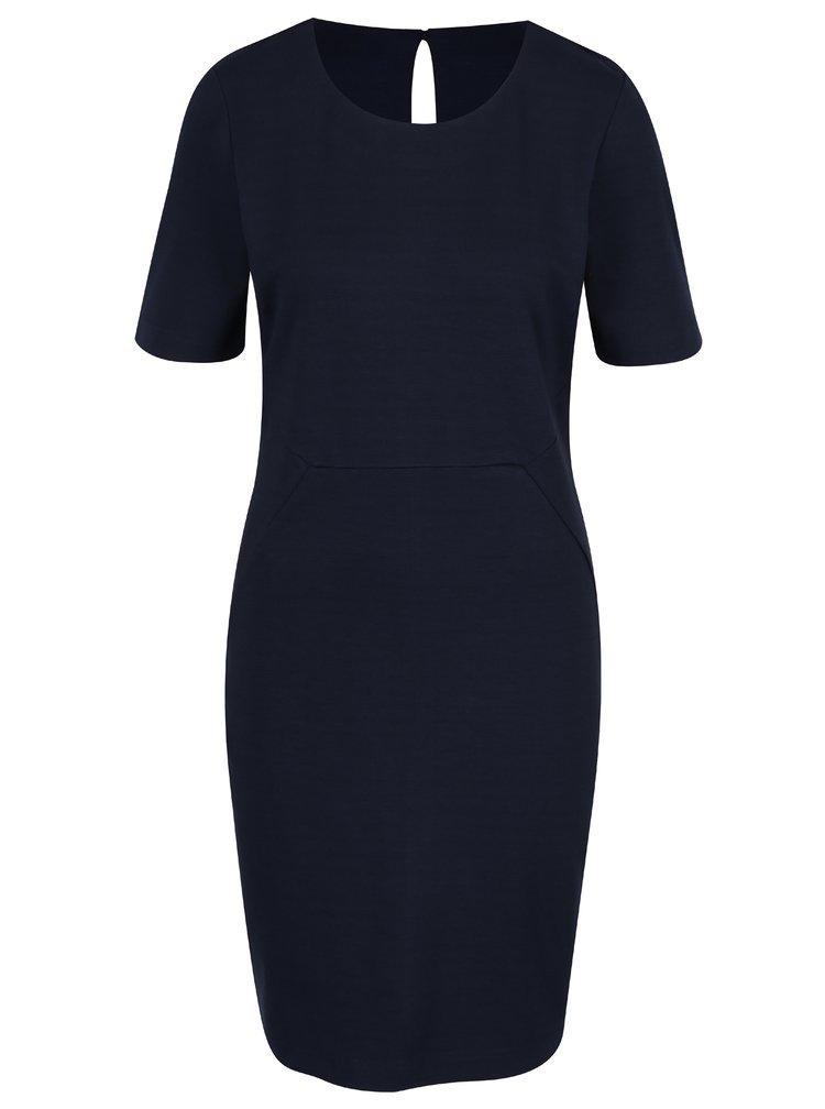 Tmavě modré pouzdrové šaty VILA Fellow