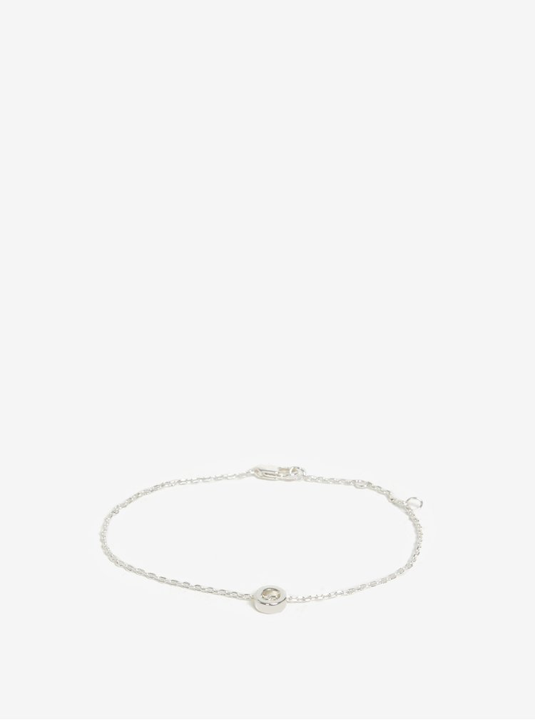 Náramek s přívěškem kroužku ve stříbrné barvě Pieces Anchor