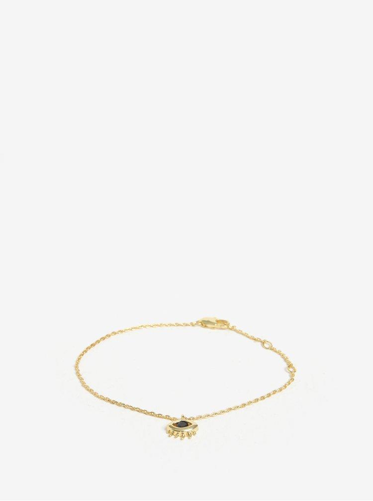 Náramek s přívěškem oka ve zlaté barvě Pieces Anchor