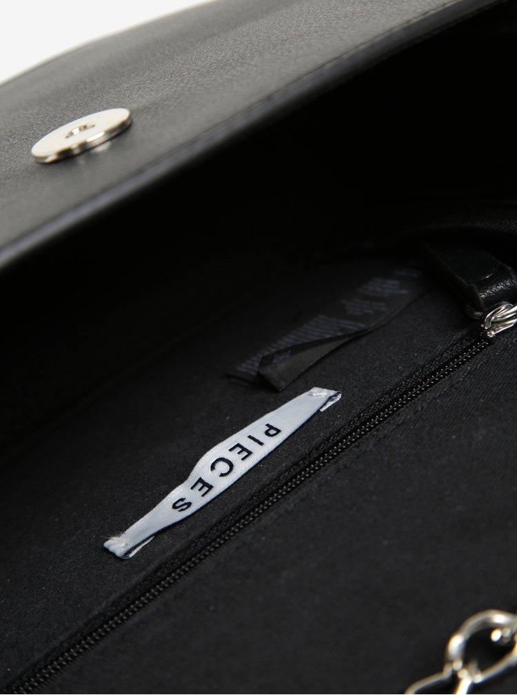 Černá crossbody kabelka s aplikací ve tvaru hvězd Pieces Assen