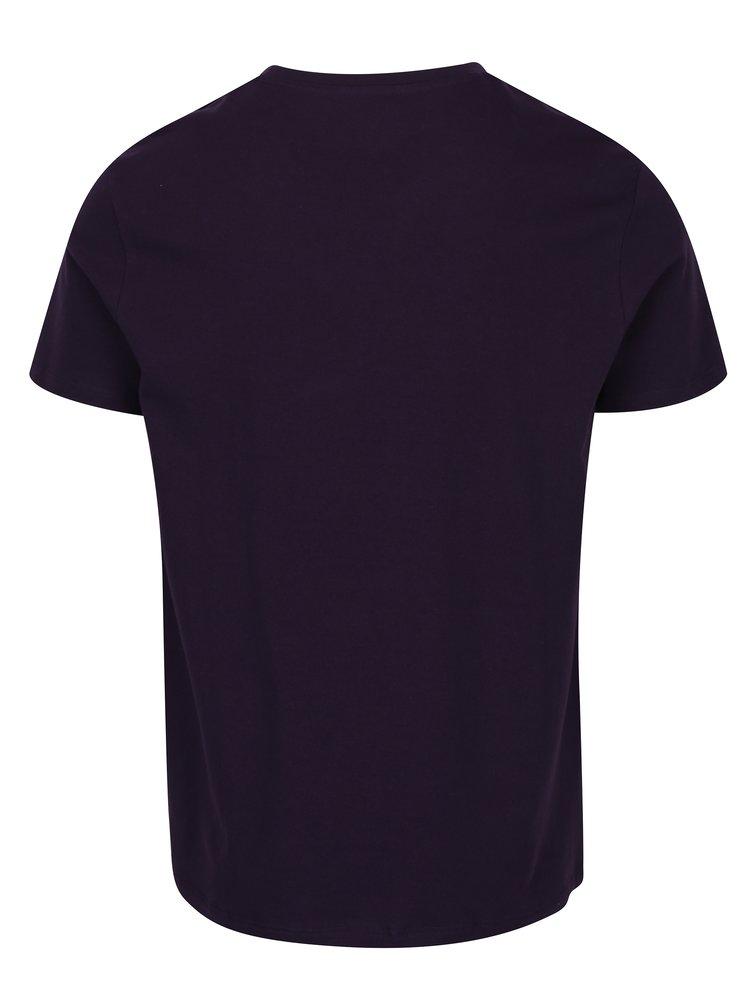 Fialové regular fit basic tričko Burton Menswear London