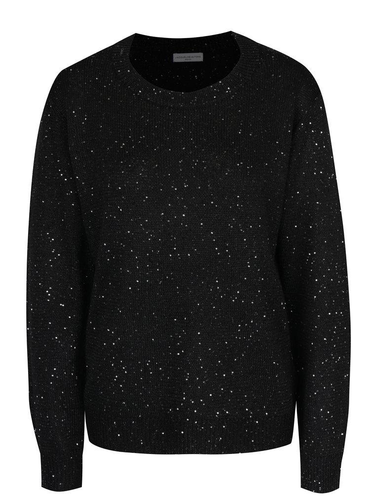 Černý svetr s flitry Jacqueline de Yong Glitter